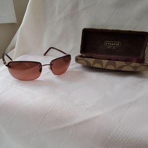 Authentic Coach Bleecker Burgundy Sunglasses